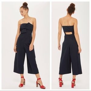 Topshop Black Strapless Jumpsuit